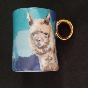 ANTHROPOLOGIE Llama mug.  NWT